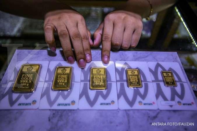 Maaf, selisih harga emas Antam dan buyback melebar jadi Rp 107.000 per gram