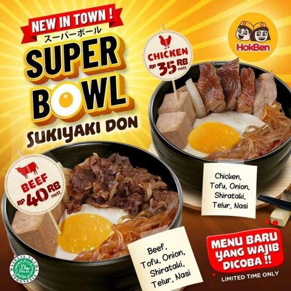 Promo HokBen Super Bowl Sukiyaki Don