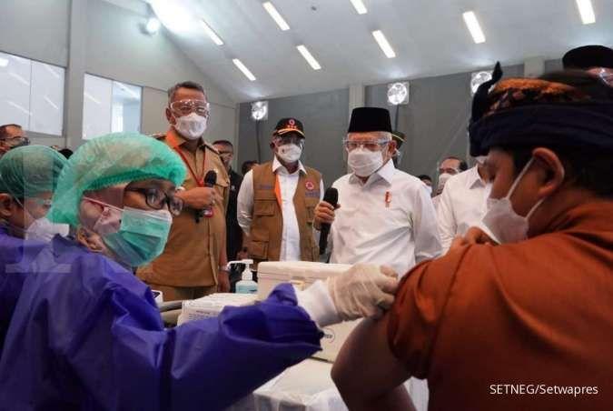 Wapres Ma'ruf Amin dorong vaksinasi massal agar kekebalan kelompok terbentuk