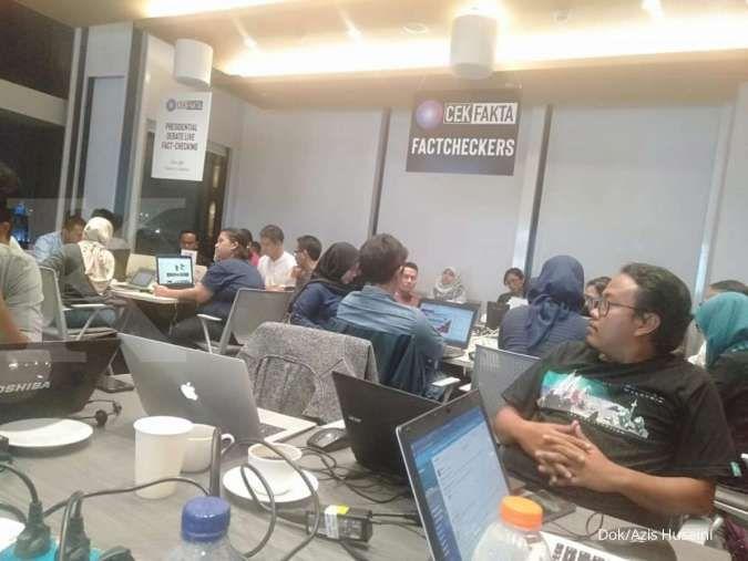 Media kembali kolaborasi dalam cek fakta dalam debat Capres soal ekonomi