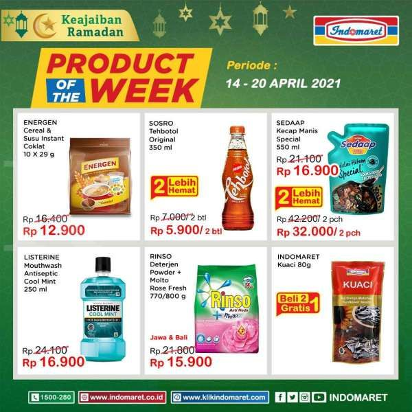 Promo Indomaret Product of The Week 14-20 April 2021