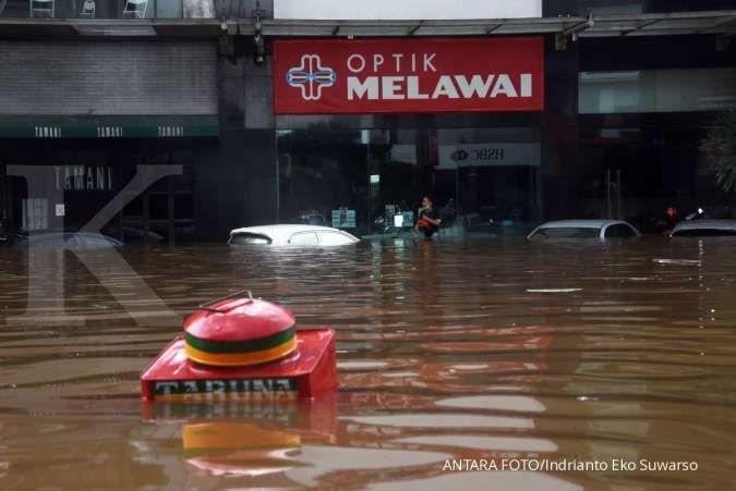 Banjir di Jalan Raya Kemang, hotel dan restoran mewah ikut terendam