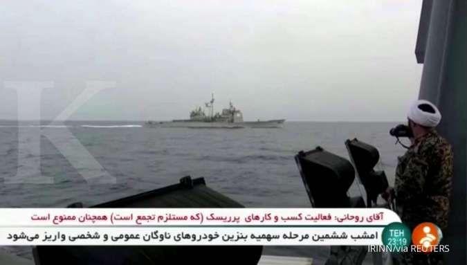 Meski ada peringatan dari AS, AL Iran tetap lanjutkan misi di Teluk