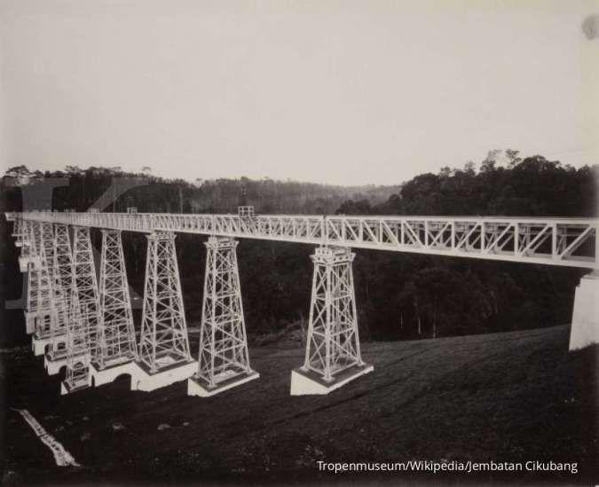 Jembatan Cikubang, jembatan kereta terpanjang di Indonesia dibangun era Belanda