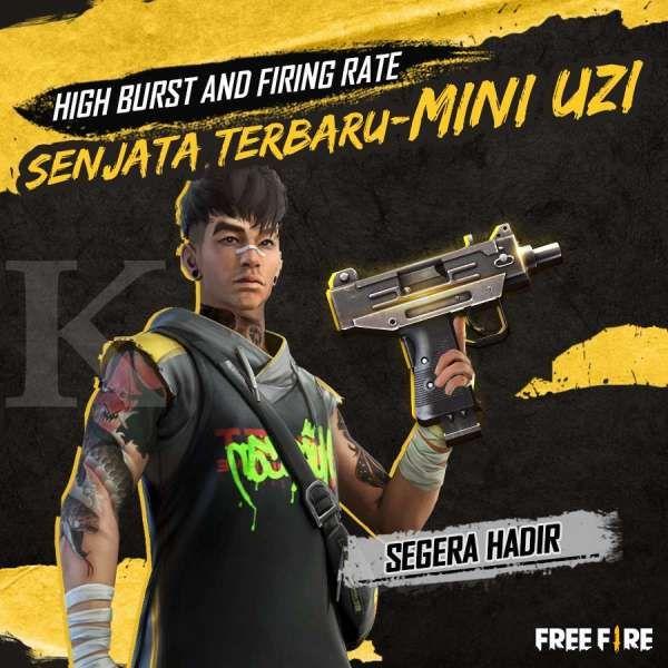Senjata baru FF: Mini Uzi