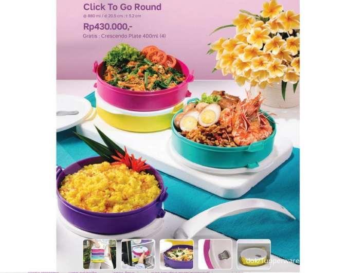 Brosur promo Tupperware Agustus 2021, ada Mickey Lunch Set, Click To Go Round dll