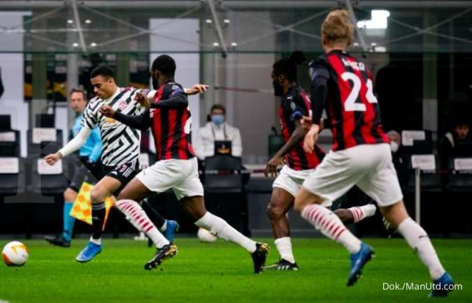 Hasil Liga Europa antara AC Milan vs Man United