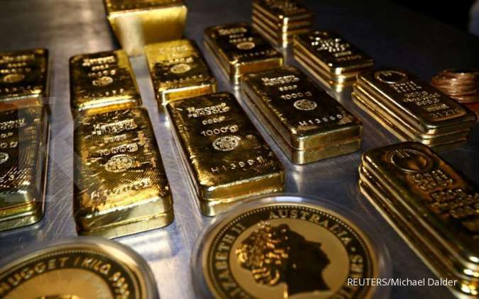 Terpengaruh virus corona, harga emas spot berada di US$ 1.642,59 per ons troi