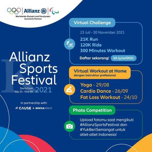 Allianz Indonesia Ajak Masyarakat Tingkatkan Imun dengan Mengikuti Rangkaian Olahraga Virtual dari Rumah