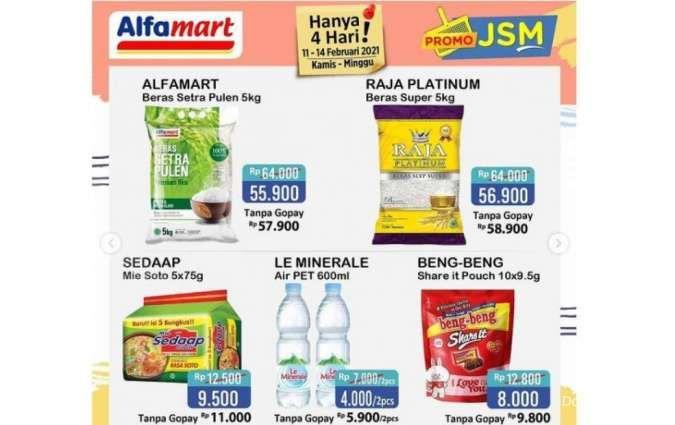 Promo JSM <a href='https://kaltim.tribunnews.com/tag/alfamart' title='Alfamart'>Alfamart</a> Promo 11-14 Februari 2021