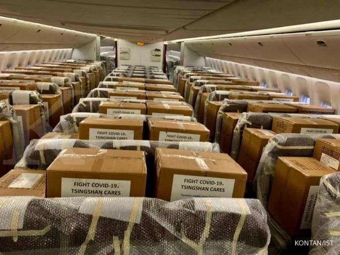 Sebanyak 40 ton alat kesehatan dari China untuk atasi virus corona tiba malam ini