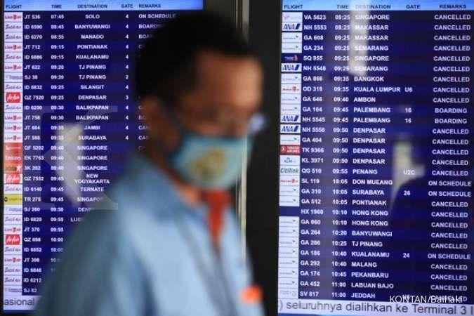 Bandara Soekarno-Hatta Masih Sepi Penumpang KONTAN/Baihaki/14/7/2020
