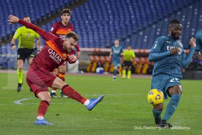 Hasil pertandingan AS Roma vs Milan di Serie A Liga Italia