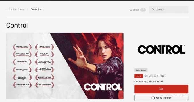 Epic Games gratiskan game Control di PC pekan ini, begini cara klaimnya