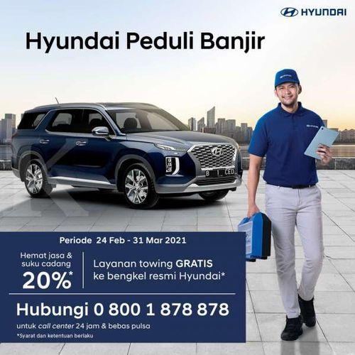 PT Hyundai Motors Indonesia Sediakan Program Hyundai Peduli Banjir bagi Konsumen yang Terdampak oleh Banjir