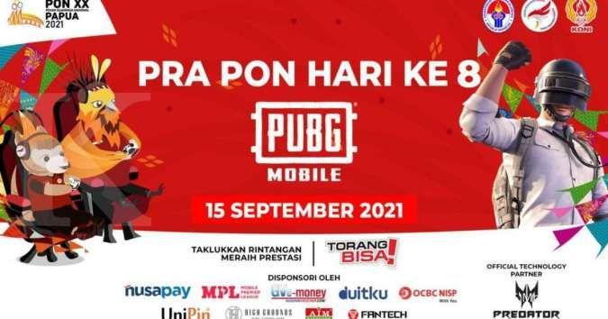 Jadwal, urutan map, daftar provinsi yang ikut kualifikasi PRA-PON PUBG Mobile