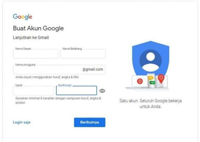 Panduan Pemula Cara Membuat Dan Daftar Gmail Mudah Dipahami Lengkap Dengan Gambar