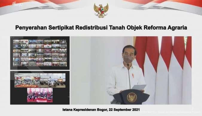 Jokowi bagikan 124.120 sertifikat tanah hasil redistribusi tanah