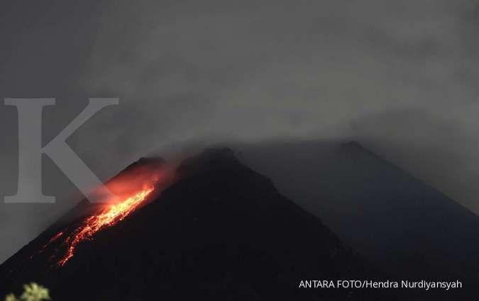 Gunung Merapi meletus lagi Rabu (27/1/2021) siang, warga turun mengungsi