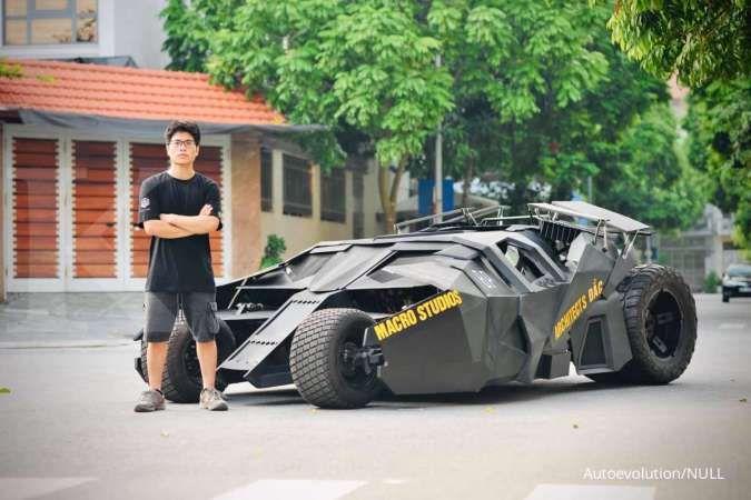 Pemuda ini rakit modifikasi Batmobile selama 10 bulan, segini ongkosnya.