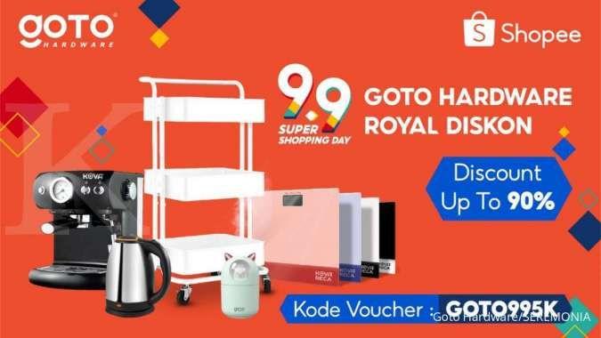 GOTO Hardware Tebar Diskon Hingga 90% di Shopee 9.9