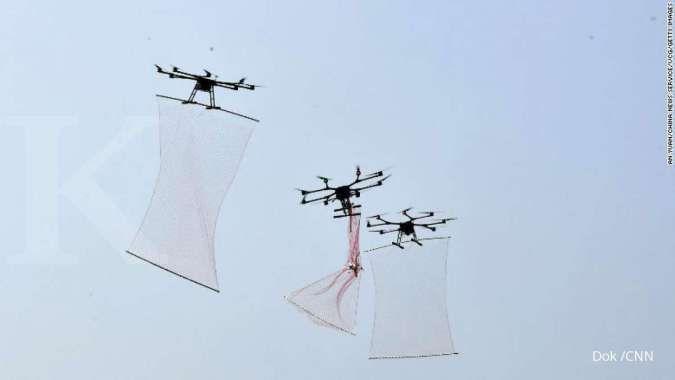 China kembangkan drone pemburu seperti Spiderman