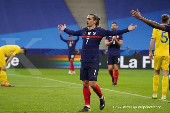 Prancis vs Bulgaria: Les Bleus uji taktik kontra Lavovete jelang Euro 2021
