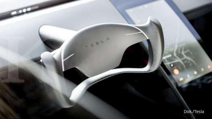 Interior mobil listrik Tesla Model Roadster 2022