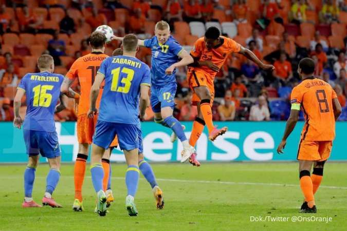 Hasil laga Belanda vs Ukraina di laga Euro 2021 Grup C