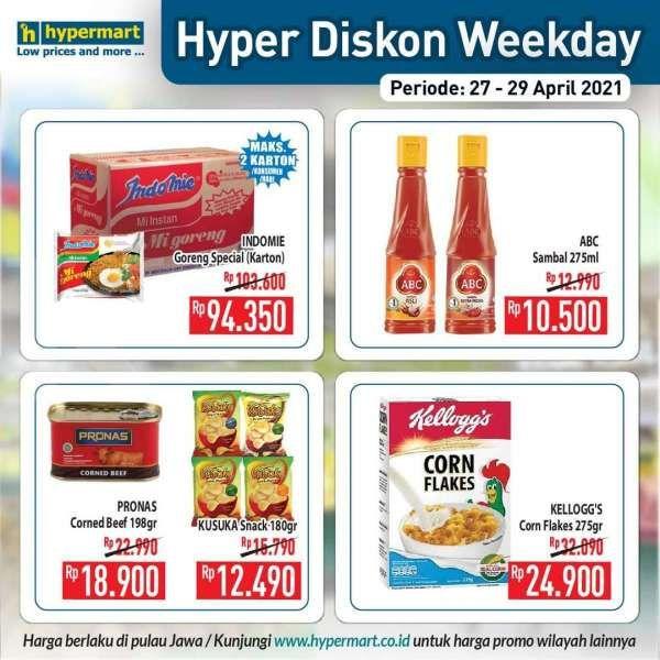 Promo <a href='https://pontianak.tribunnews.com/tag/hypermart' title='Hypermart'>Hypermart</a> weekday 27-29 April 2021