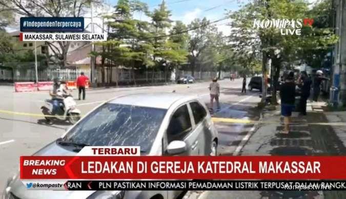 Ledakan terjadi di depan Gereja Katedral Makassar