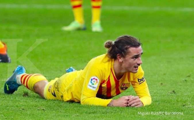 Antoine Greizmann akan turun dari bangku cadangan di laga Cornella vs Barcelona di Copa Del Rey