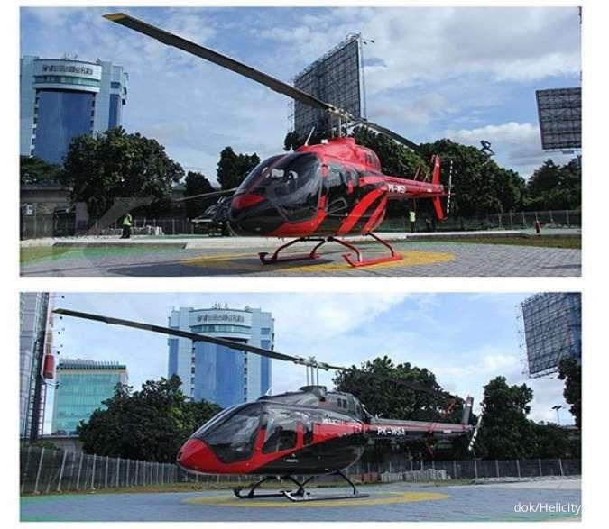 Tidak ingin kena macet ke Bandara Soekarno Hatta, sewa Helikopter Helicity saja