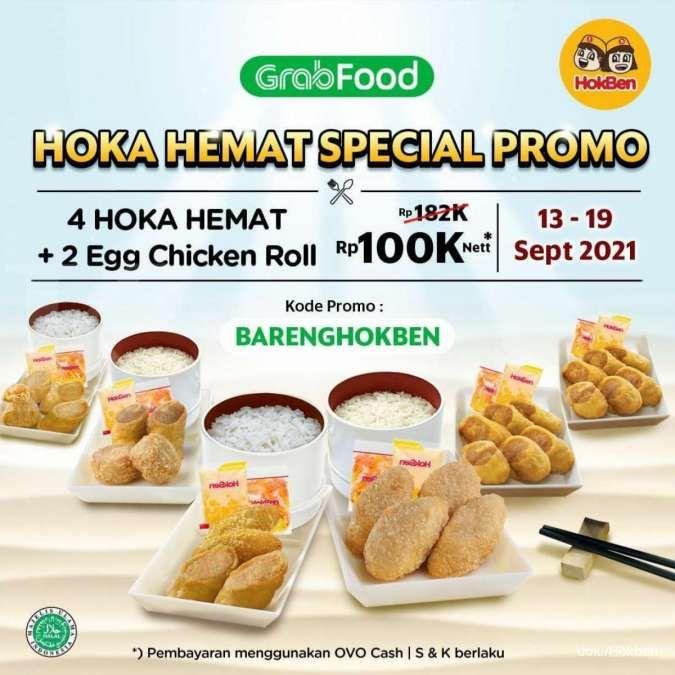 Promo Hokben 13-19 September 2021, Dapat 6 Paket Hokben Rp 100.000 di GrabFood
