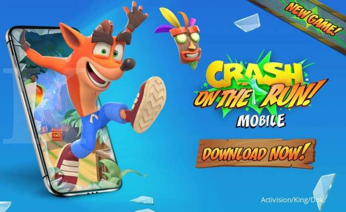 Kembali bernostalgia, game Crash Bandicoot: On the Run! resmi rilis di Anroid dan iOS
