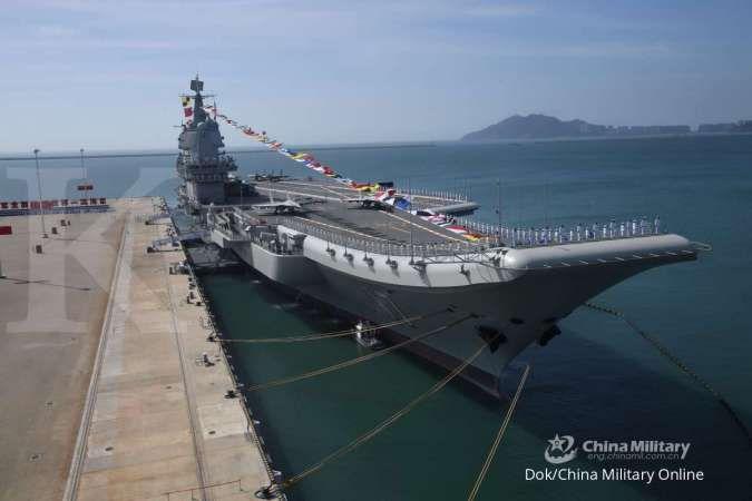 Setara USS Kitty Hawk milik AS, kapal induk ketiga China bakal meluncur tahun ini
