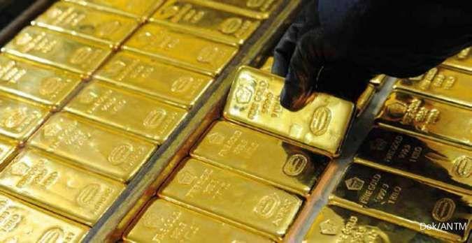 Tengah siang, harga emas spot berada di US$ 1.781,49 per ons troi