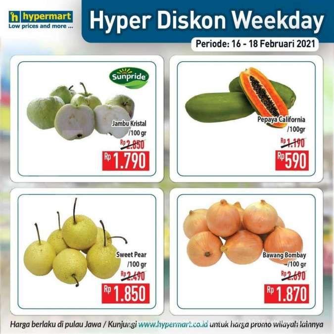 Promo Hypermart weekday 16-18 Februari 2021