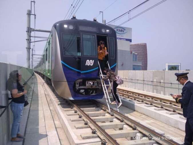 Pembangunan fase II B MRT Jakarta menunggu pembebasan lahan