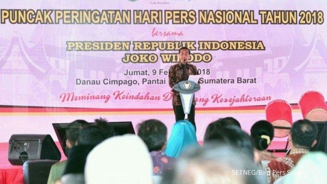 Jokowi: Pentingnya pers bagi pilar keempat demokrasi
