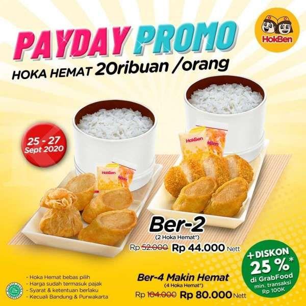 Promo HokBen periode 25-27 September 2020