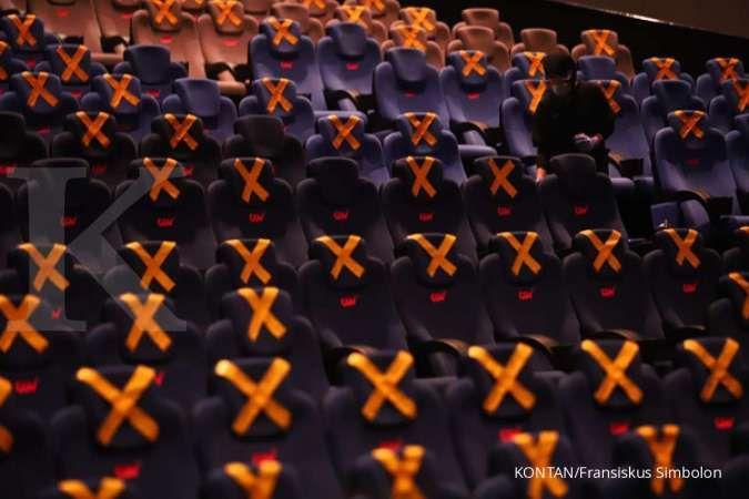 Bioskop jadi salah satu tempat dengan risiko penularan Covid-19 yang tinggi.