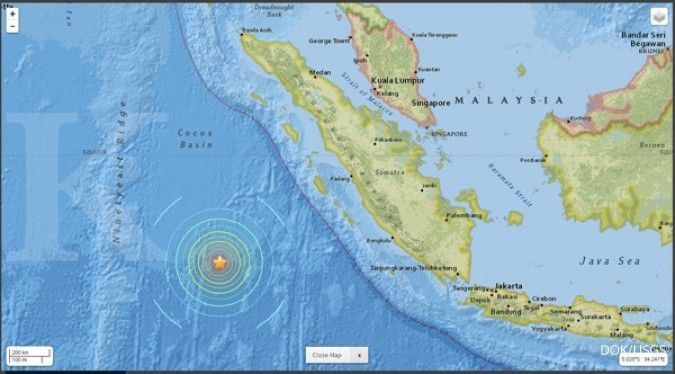 Pagi ini, gempa masih mengguncang Mentawai