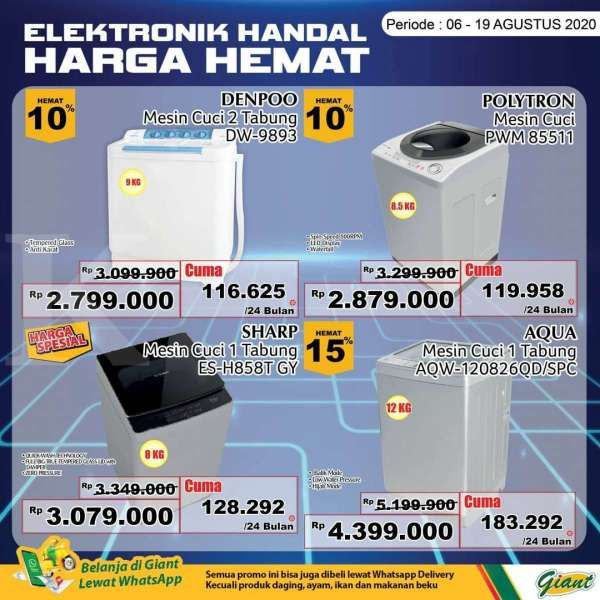 Promo Giant Periode 6 19 Agustus 2020 Khusus Produk Elektronik