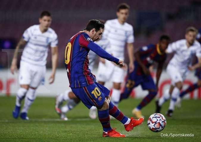 Lionel Messi saat laga Dynamo Kyiv vs Barcelona