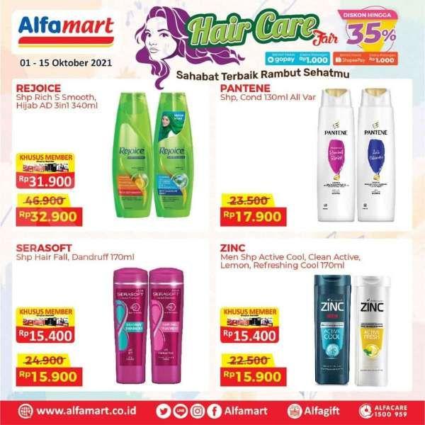 Promo Alfamart Hair Care Fair, Aneka Produk Perawatan Rambut Diskon hingga 35%