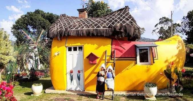 Ada di Lembang, suasana tempat wisata Rumah Belanda mirip negeri kincir angin