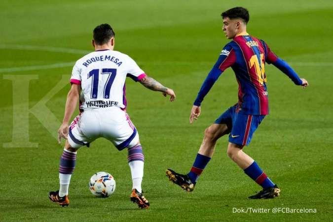 Hasil La Liga Spanyol antara Barcelona vs Real Valladolid berakhir dengan kemenangan 1-0 Blaugrana