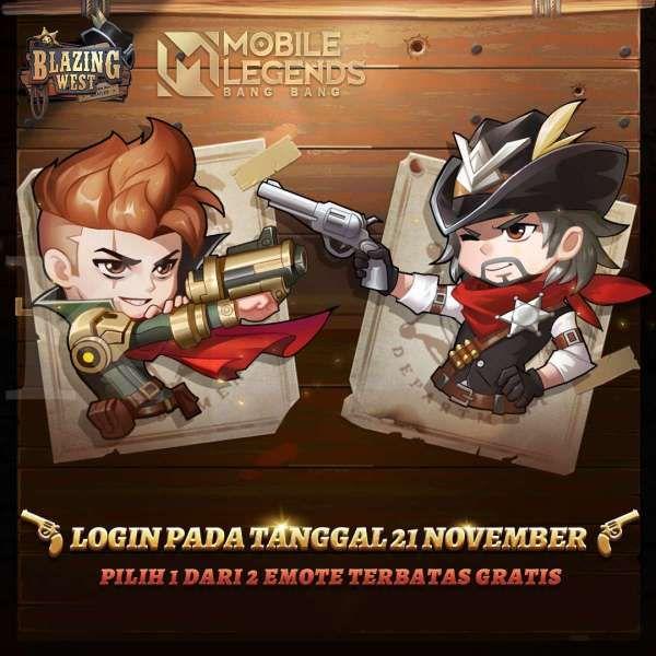 Battle Emote gratis di Mobile Legends