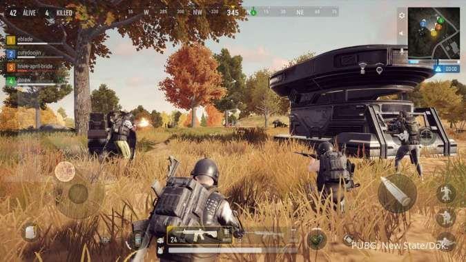 Video gameplay PUBG: New State, memperkenalkan beberapa tempat di map Troi